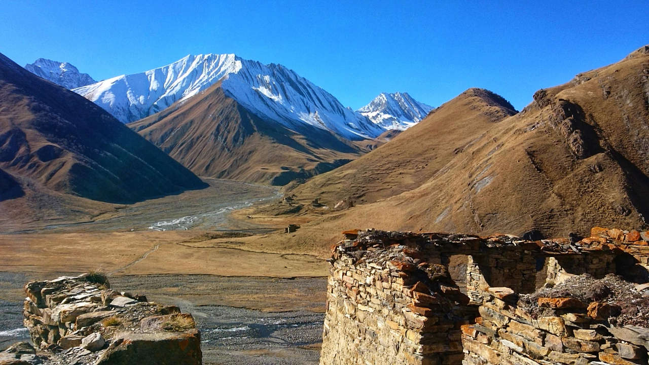 Dolina Truso - widok na Osetię Południową