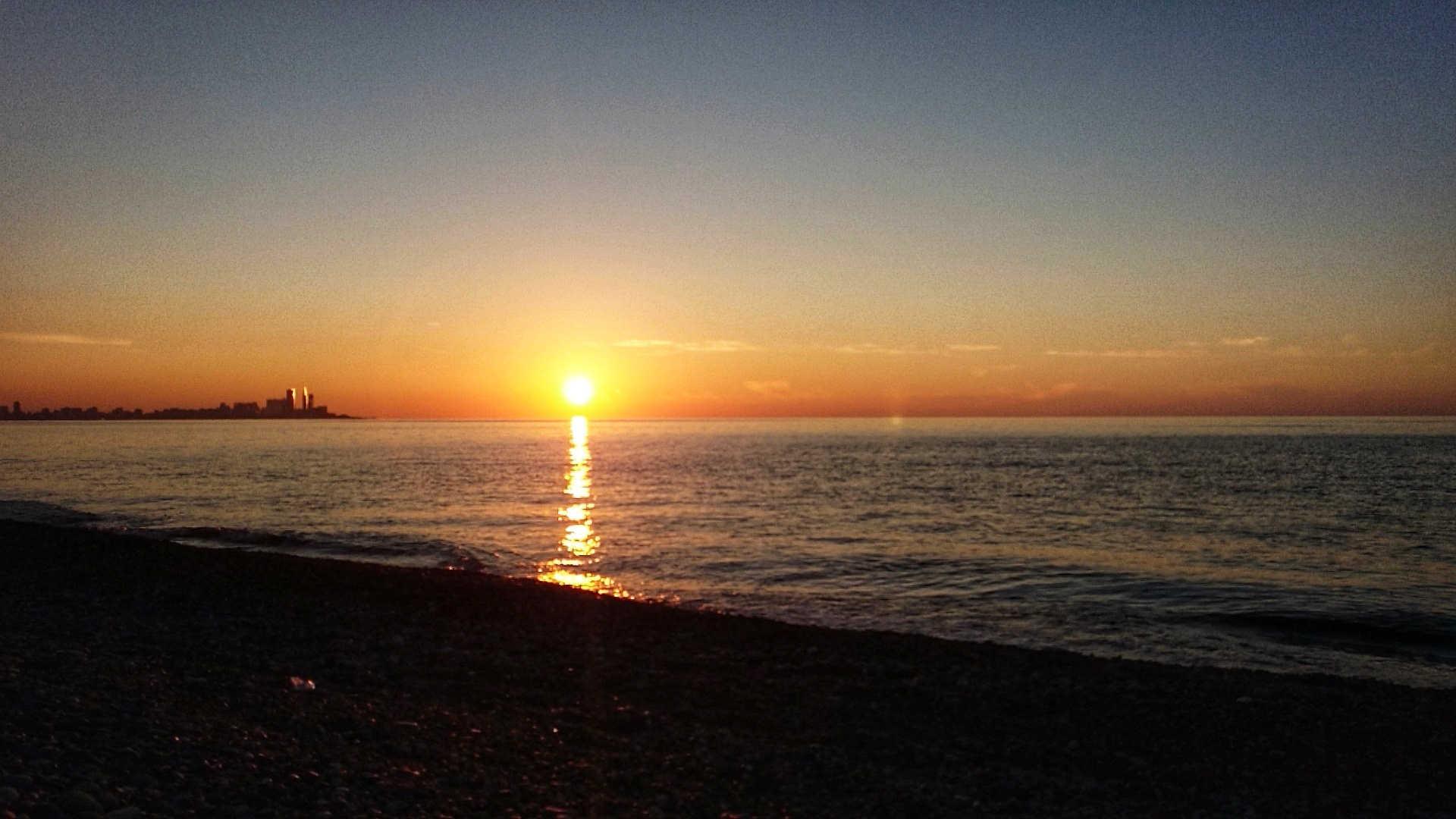 Batumi - zachód słońca
