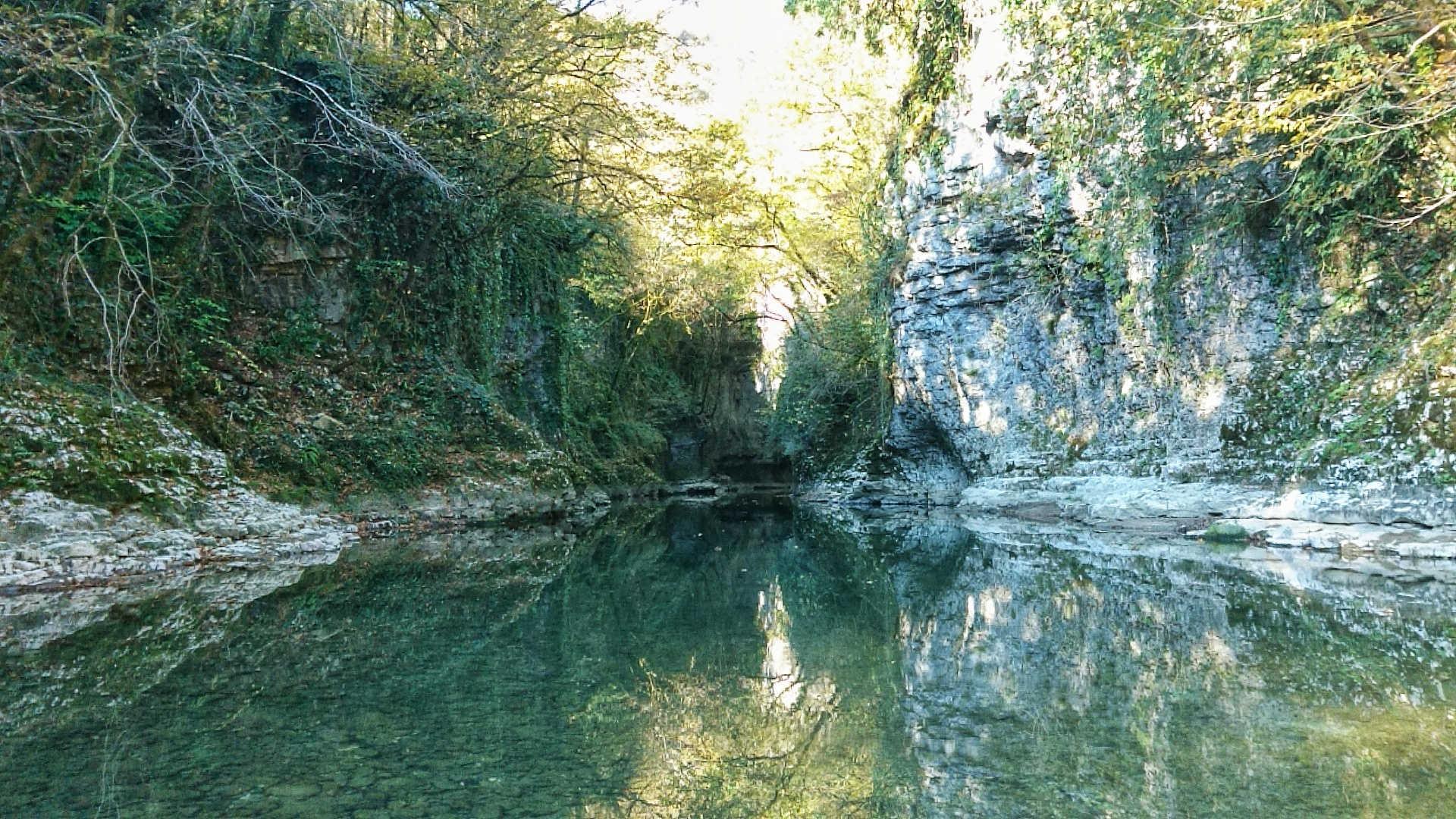 Kutaisi i okolice - kanion Martvili - przeprawa pontonem 3