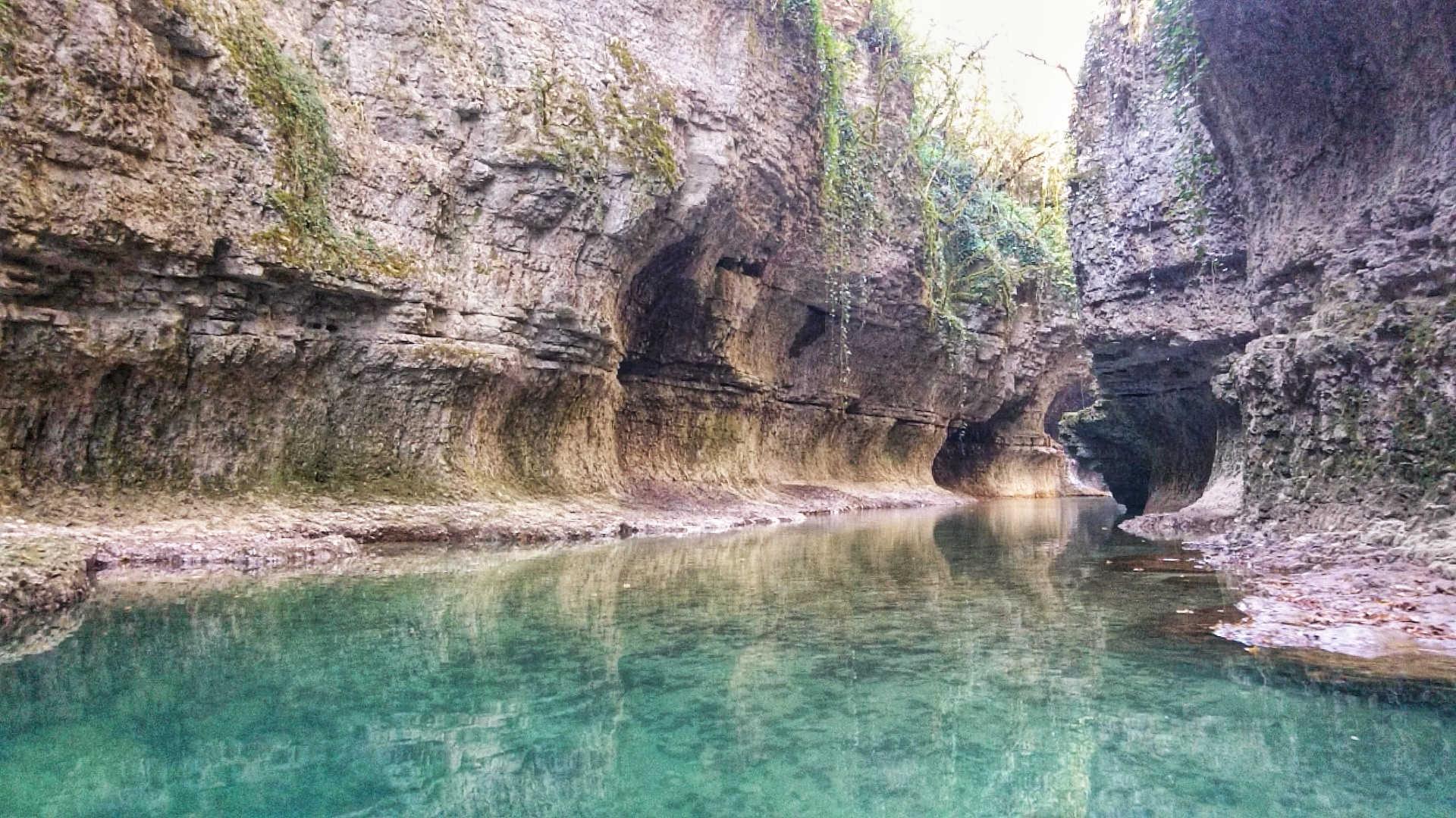 Kutaisi i okolice - kanion Martvili - przeprawa pontonem 4