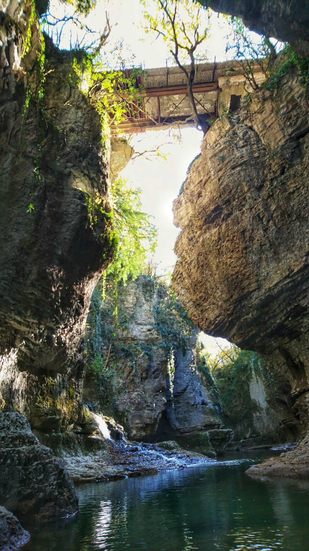 Kutaisi i okolice - kanion Martvili - przeprawa pontonem 8
