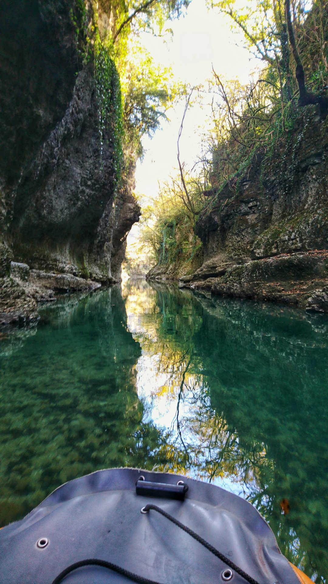 Kutaisi i okolice - kanion Martvili - przeprawa pontonem 9